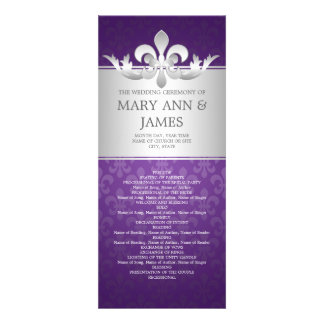 Púrpura elegante de la flor de lis del programa de anuncios