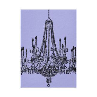 Púrpura elegante de la lámpara impresión en lienzo estirada