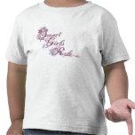 Púrpura elegante de la regla de los chicas camiseta