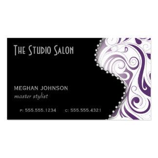 Púrpura elegante de la tarjeta de visita de la