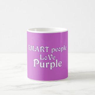 Púrpura elegante del amor de la gente taza de café