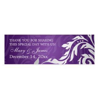 Púrpura elegante del Flourish de Swirly de la etiq Plantilla De Tarjeta Personal