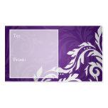 Púrpura elegante del Flourish de Swirly de la Plantilla De Tarjeta De Visita