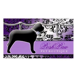 Púrpura elegante del mascota 311 tarjetas de visita