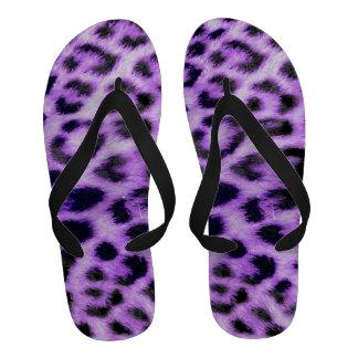 Púrpura elegante del modelo de la textura de la pi chanclas de playa