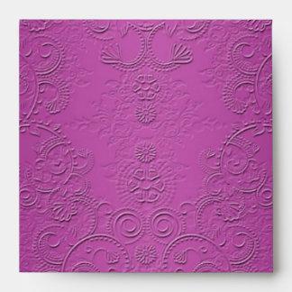 Púrpura elegante sobre