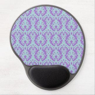 Púrpura elegante y aguamarina alfombrilla de ratón con gel