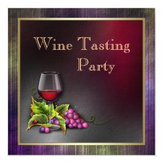 """Púrpura elegante y fiesta rojo de la degustación invitación 5.25"""" x 5.25"""""""