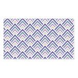 Púrpura elegante y zigzag geométrico Chevron del t Tarjetas De Visita