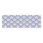 Púrpura elegante y zigzag geométrico Chevron del t Tarjeta De Visita