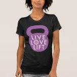 "Púrpura ""elevación viva del amor "" camiseta"