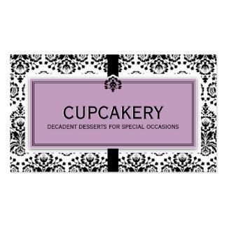 Púrpura en colores pastel del negro elegante del tarjetas de visita