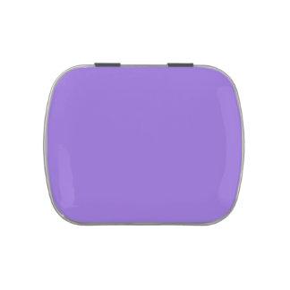 Púrpura en colores pastel oscura latas de dulces