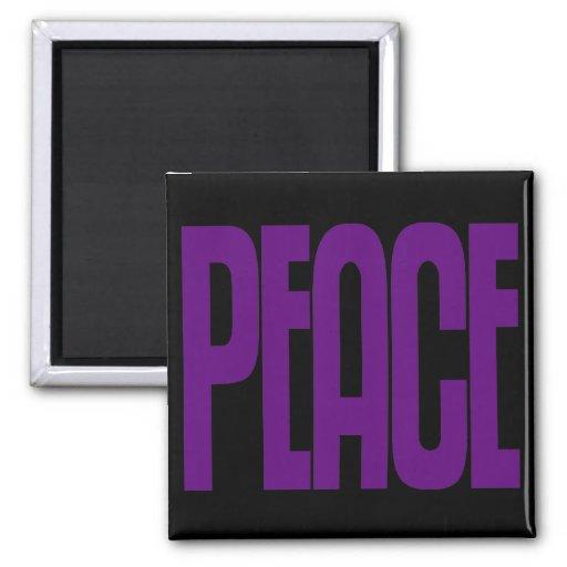 Púrpura en el imán negro de la paz, diseño del tex
