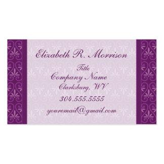 Púrpura en estampado de flores púrpura tarjetas de visita