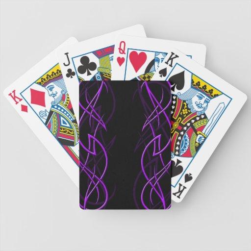 """Púrpura en naipes negros de la """"elegancia"""" cartas de juego"""