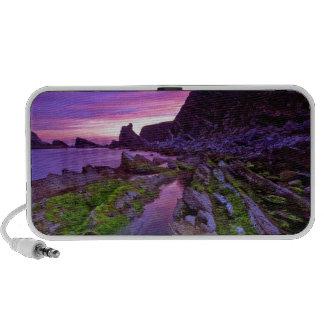 Púrpura escarpada de la salida del sol iPod altavoz