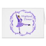 Púrpura escocesa de Knotwork del Celtic del bailar Felicitación