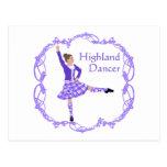 Púrpura escocesa de Knotwork del Celtic del bailar Tarjeta Postal