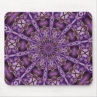 Púrpura estrellada del cojín de ratón tapetes de raton