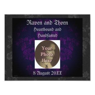 """Púrpura eterna 2 de la habitación de invitación 4.25"""" x 5.5"""""""