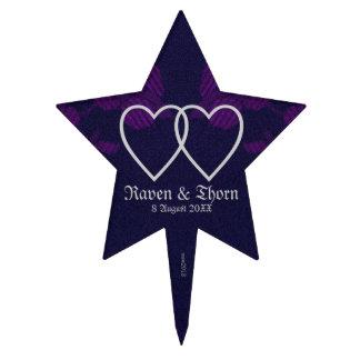 Púrpura eterna de la habitación de Handfasting/del Decoraciones De Tartas
