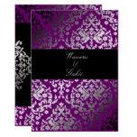 """púrpura extraordinaria del damasco 311-Dazzling Invitación 5"""" X 7"""""""
