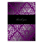 púrpura extraordinaria del damasco 311-Dazzling Felicitación