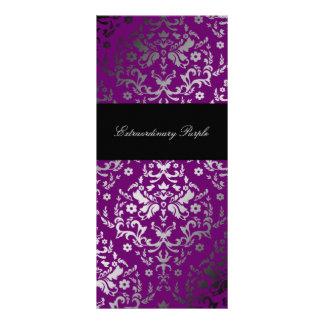 Púrpura extraordinaria del damasco del deslumbrami lona personalizada