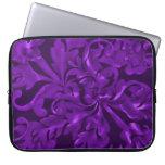 Púrpura fabulosa del follaje funda computadora
