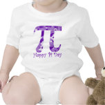 Púrpura feliz Camo del día del pi Trajes De Bebé