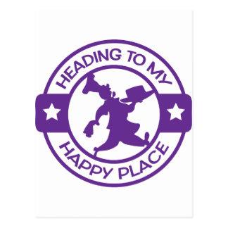 Púrpura feliz del chef de repostería del lugar postales