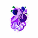 Púrpura femenina conmemorativa de la persona que p escultura fotográfica
