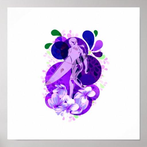 Púrpura femenina conmemorativa de la persona que p poster