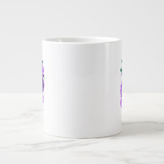 Púrpura femenina conmemorativa de la persona que p taza grande