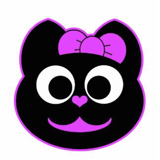 Púrpura femenina del gato del gatito escultura fotográfica