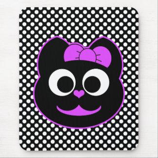Púrpura femenina del gato del gatito tapete de raton