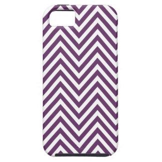 Púrpura femenina del modelo de zigzag de Chevron d iPhone 5 Cobertura