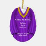 Púrpura femenina del vestido del graduado y orname ornamentos de reyes magos