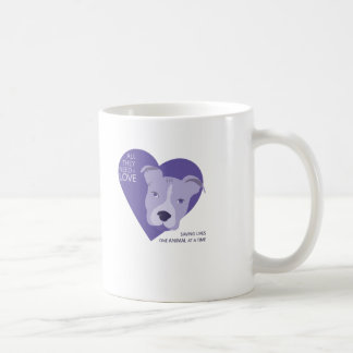 púrpura final del logotipo del rescate tazas de café