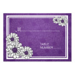 Púrpura floral de la dalia de Placecards del boda Plantilla De Tarjeta De Visita