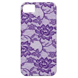 Púrpura floral del cordón 311 iPhone 5 Case-Mate cárcasas