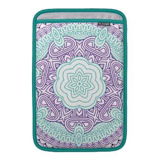 Púrpura floral medieval elegante de la turquesa de fundas para macbook air