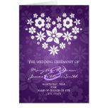 Púrpura florida del corazón del programa elegante  tarjeta