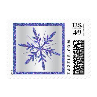 Púrpura, franqueo del copo de nieve de la MIRADA d Timbres Postales