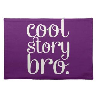 Púrpura fresca de Bro de la historia Manteles