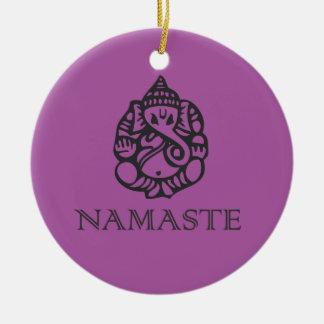 Púrpura fresca del diseño de Namaste Ganesh