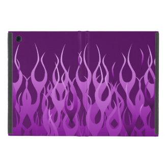 Púrpura fresca que compite con las llamas iPad mini carcasas