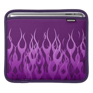 Púrpura fresca que compite con las llamas funda para iPads