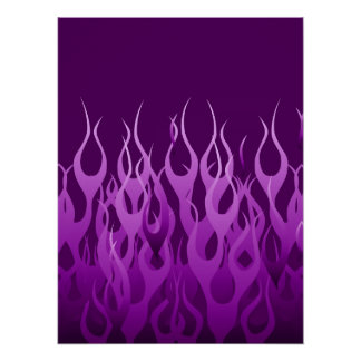 Púrpura fresca que compite con rayas del Pin de Póster